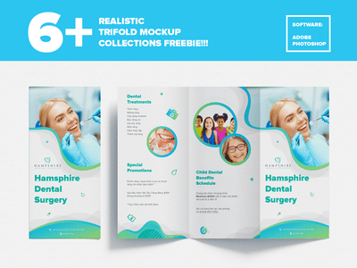 Realistic Trifold PSD Mockup Collection