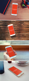 Four White iPhone 6 Screen Mockups