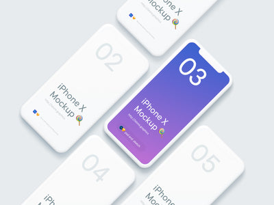 Simple iPhone X PSD Mockups
