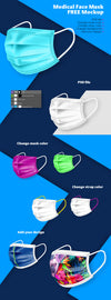 Medical Face Mask Mockup PSD