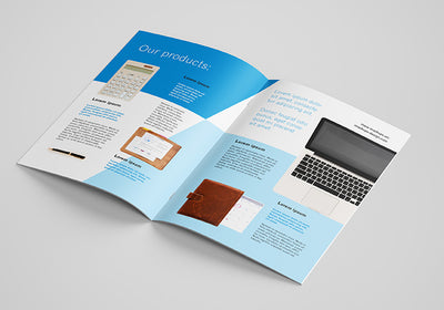 8 Shots or Angles of A4 Brochure Mockups