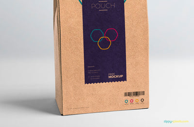 Cardboard Pouch Packaging Mockup