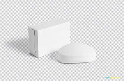 Packaging Box and Soap Mockup