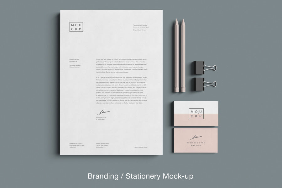 Advanced Clean Branding Stationery Mockup Business Card And