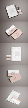 Advanced Clean Branding Stationery Mockup Business Card and Letterhead Paper