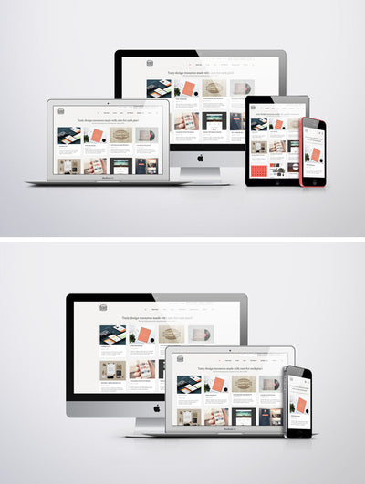 Apple iMac, Macbook, iPad and iPhone Responsive Screen MockUps