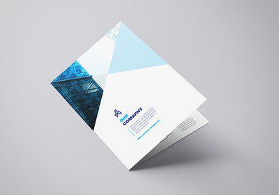 Collection of 4 x A4 Bifold Brochure Mockups