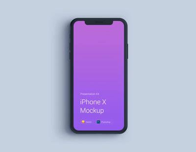 iPhone X Mockup with Changeable Color