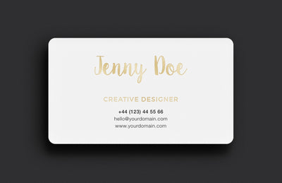 Black and White Business Card Versions (Mockup)