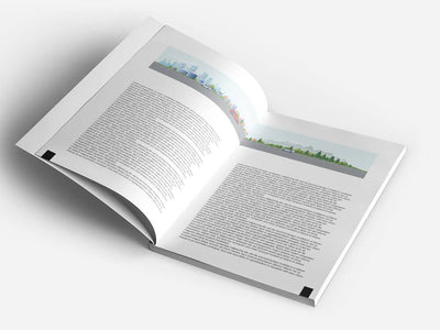 Book or Magazine Mockup with Cover