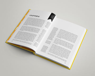 7 Views of Realistic Modern Book Mockup