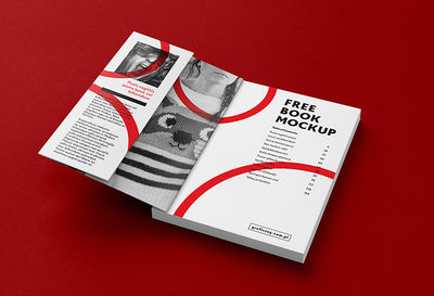 7 Views of Thick Book or Brochure Mockup