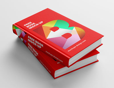 Red Thick Book or Novel Mockup