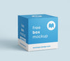 Square White Cardboard Packaging Box Mockup or 80x80x80 mm