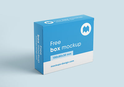 Cardboard Packaging Box Mockups or 100x80x30 mm