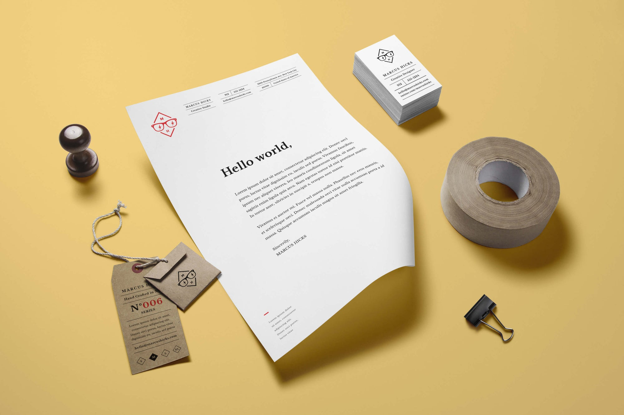 stylish and clean stationery branding mockup mockup hunt