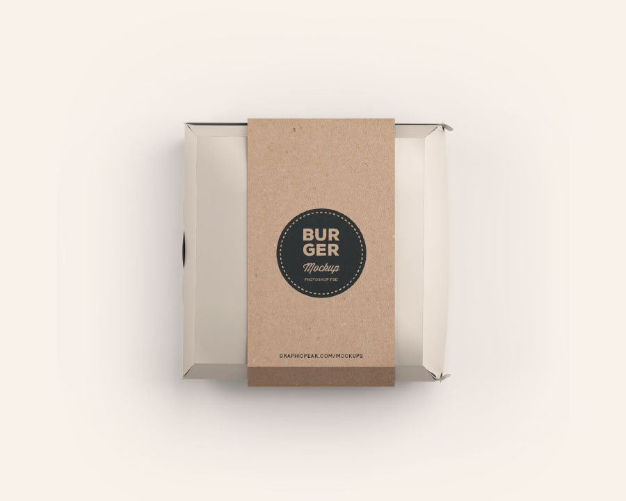 Burger Box Package Mockup Psd Mockup Hunt