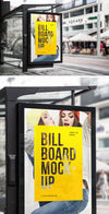 Bus Stop Billboard Sign MockUp