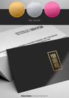 Glossy Business Card Logo Foil Mockup