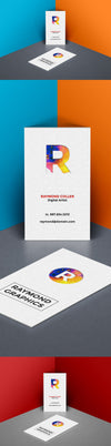 Business Card Mockup in Isometric Corner PSD Template