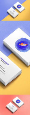 Cool Business Card Mockup Template