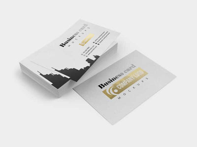 Various Business Card Mockup Views