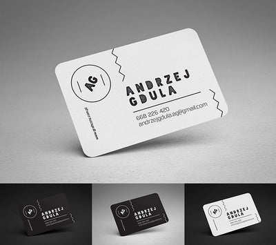 Rounded Business Card Mockups 3 Views