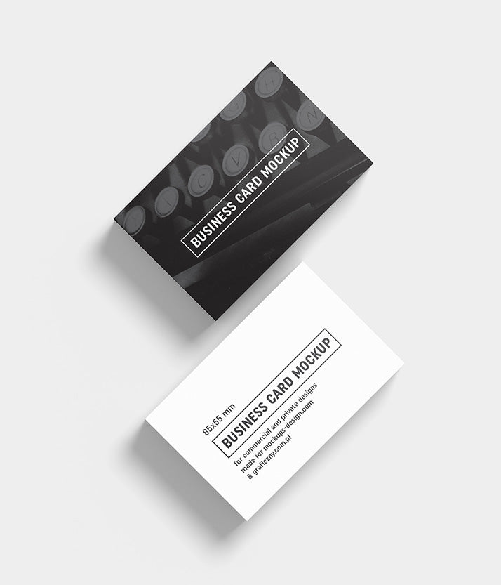 Big Collection Of 6 Business Card Mockups 85x55 Mm Mockup Hunt