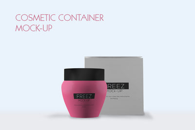 Cosmetics Containers Packaging Mockup