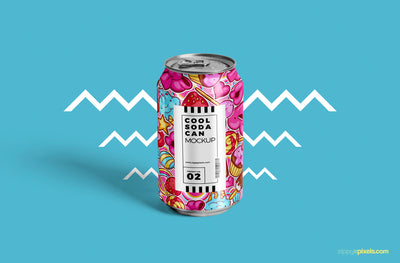 Tin Soda Can Mockup