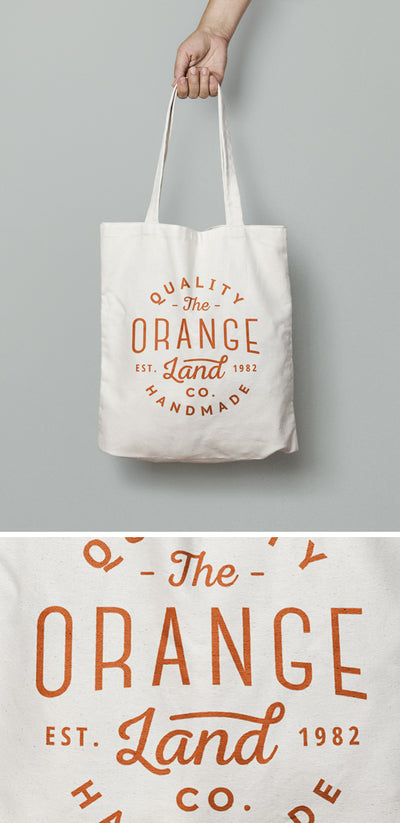 White Canvas Tote Bag MockUp