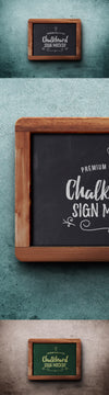 Old Fashioned Chalkboard Sign PSD Mockup