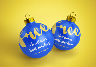 Clean Christmas Ball Mockups