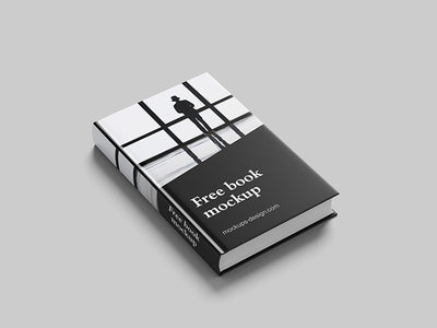 Clean and Thick Novel Book Mockup 6 Shots and Angles