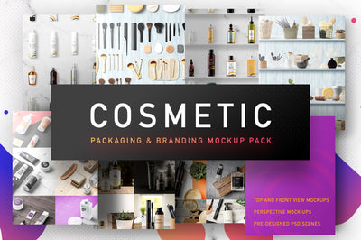 Big Collection of Cosmetic Packaging Mockups
