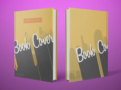 Clean Front and Back Cover Book Mockups