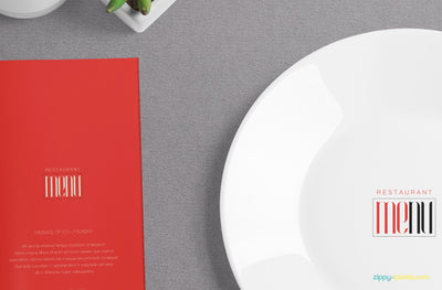 Sophisticated Menu Mockup
