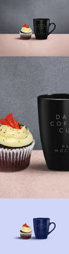 Dark Coffee Mug PSD Mockup