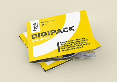 DVD/CD Digital Packaging Mockup