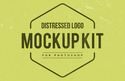 Distressed Logo Mockup Kit (Download)