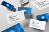 Colelction of Flying Business Card Mockups