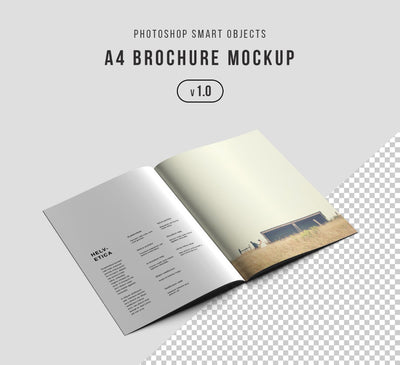 3 x Super Clean Brochure or Magazine Mockup