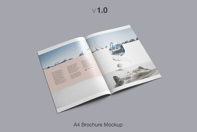 16 Different Perspectives of A4 Brochure Mockup