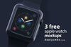 Apple Watch Mockup PSD Set of 3 Smart Watches