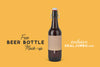 Crafty Brown Beer Bottle Mockup PSD