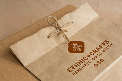 Ecology Craft Paper Packaging PSD Mockup