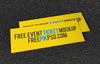 Wide and Horizontal Event Ticket Mockup