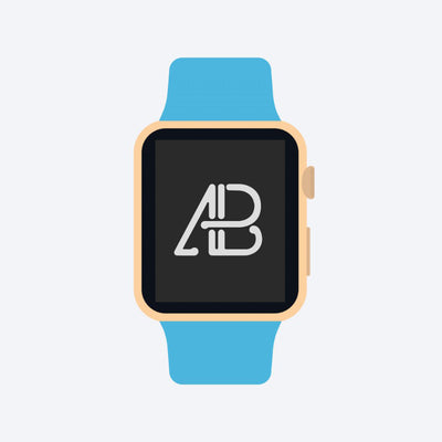 Flat 2D Apple Watch Mockup