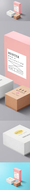 Premium Quality Packaging Boxes Mockup PSD