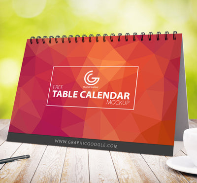 Table Calendar PSD Mockup